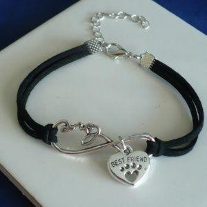 Fashion Jewelry Jewelry - ❤️ NEW Cute Pets Paw Heart Charm Black Bracelet